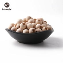 Let's make 12mm 50pcs Wooden Beads Baby Products Accessories