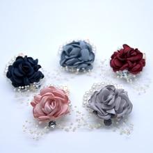 Wedding decoration rose Wrist Corsages Hand Flower Artificial Brides Bridesmaid wrist flower wedding party