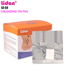 LIDAN Nail Polish Removal 50 Pcs Tin Cleaner  Nail Gel Cleaner Liquid  Foil Nail Wraps  Removedor De Gel