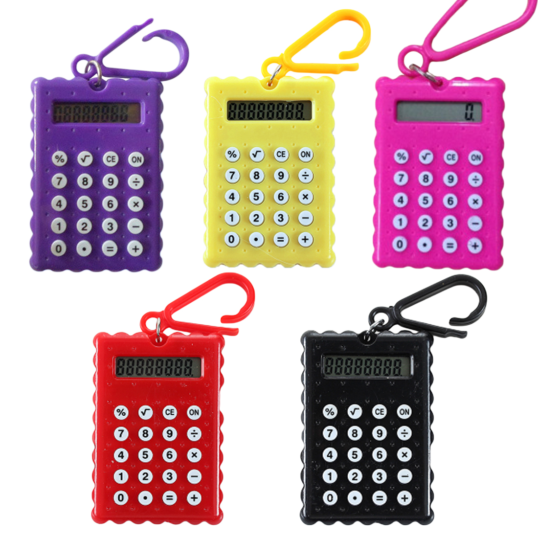 NOYOKERE Hot Sale Student Mini Electronic Calculator Candy Color Calculating Office Supplies Gift Super Small