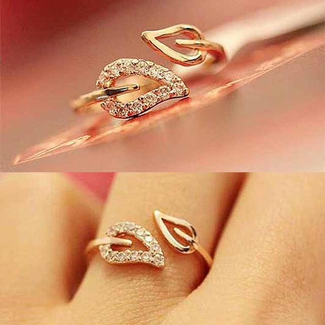 0.28/pcs 2016 New Hot Euramerica style steam drill out lover rings for women well, party wedding ring jewelry free shipping