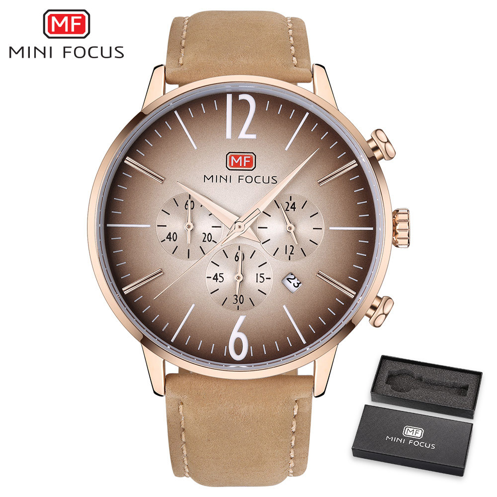 MINIFOCUS Mens Watches Top Brand Luxury Leather Strap Quartz Watch Fashion Casual Sport Watch Clock Wristwatch Relogio Masculino new listing men watch luxury brand watches quartz clock fashion leather belts watch cheap sports wristwatch relogio male gift