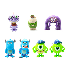 10CM Monsters University Mini Funny Action Figures Anime Models ABS Toys Dolls Kids Gifts Ornaments Toys