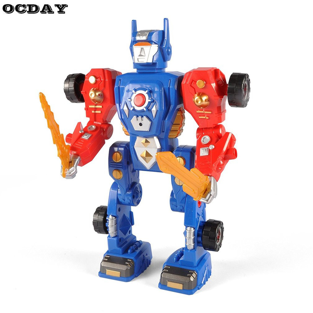 31 Apart Modification Pieces Transform Robot Action Figure Toy Kit Construction Toy With Safety Power Drill For Children Toy