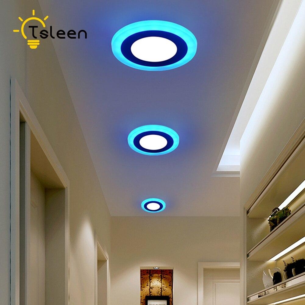 Us 912 29 Offtanie Podwójne Kolor Panelu Led Lampy Sufitowe Nowoczesne Lampy 110 V Sypialnia Lampa Sufitowa Led 220 V Plac Wpuszczone Oświetlenie