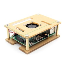 Buy online New Arrival 3 In Raspberry Pi 3 Model B + V34 Acrylic Case with screws + Pi Fan with screws Original High Quality