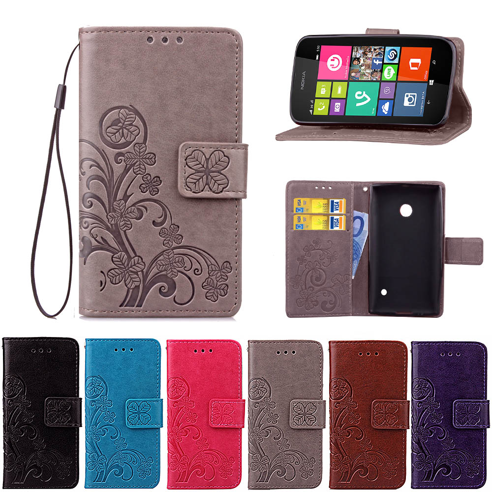 For Nokia <font><b>Lumia</b></font> <font><b>530</b></font> <font><b>Flip</b></font> Wallet PU Leather <font><b>Case</b></font> For Microsoft <font><b>Lumia</b></font> <font><b>530</b></font> Cover High Quality Book Stand Card Slot Phone <font><b>Cases</b></font> image