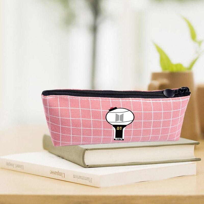 Canvas Pencil Case For Girl Blackpink Seventeen Gift Kawaii Pencil Bag School Cute Pencil Box Pencilcase Office Supplies
