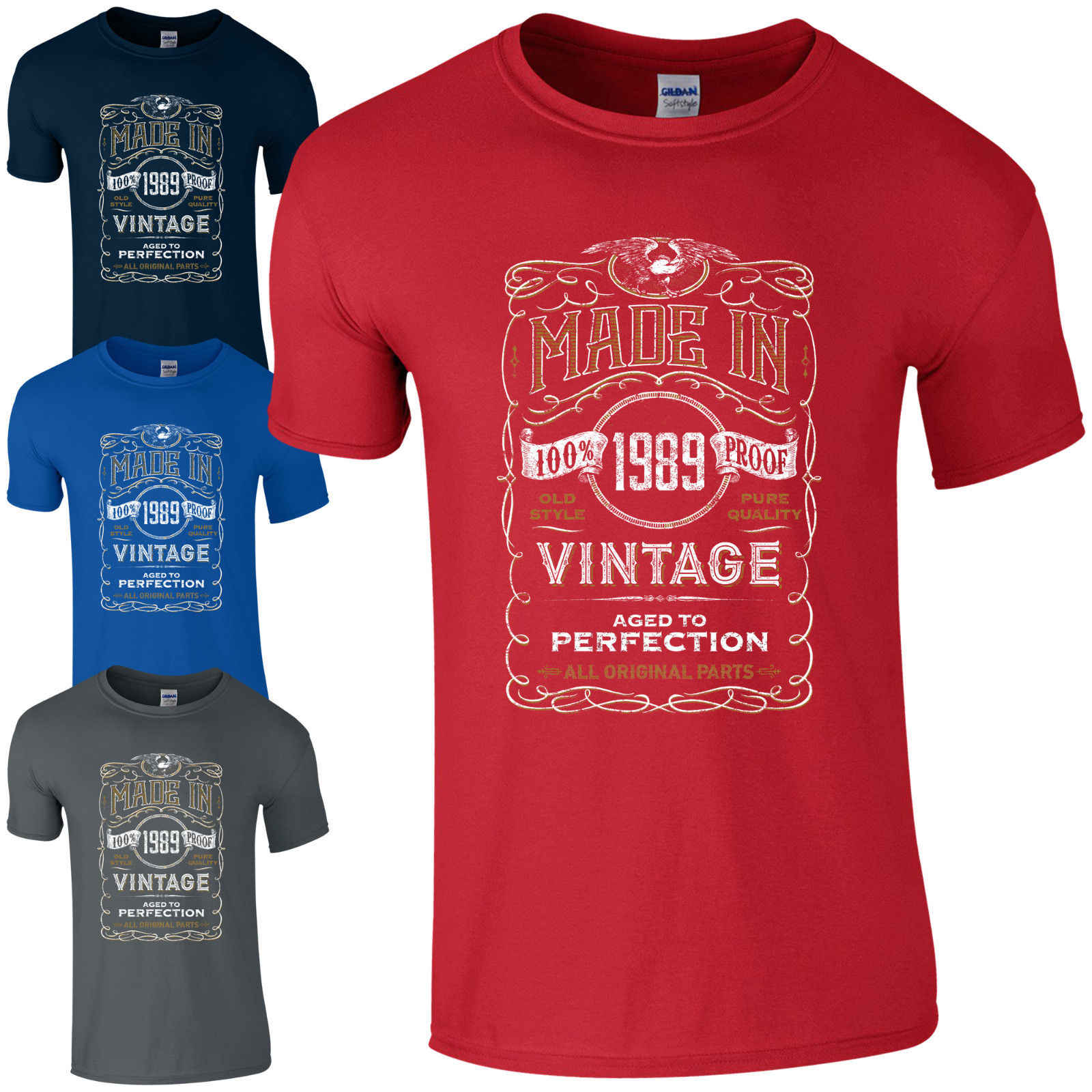 8dade9fd1 Made in 1989 T-Shirt Born 29th Year Birthday Age Present Vintage Funny Mens  Gift