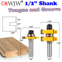 2pc 1 2 Shank Tongue Groove Router Bit Set Large Stock Up To 1 1 4