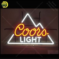 Neon Sign for COORS LIGHT BEER Neon Bulb sign Beer Bar Pub Restaurant handcraft real Glass tube windows Club light Decor lamps