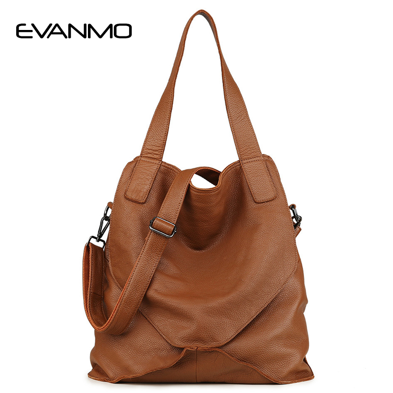 Full Genuine Leather Shoulder Bag Women Large Capacity Daily Bag Brand Designers Tote Purse High Quality Brown Shopping Bags