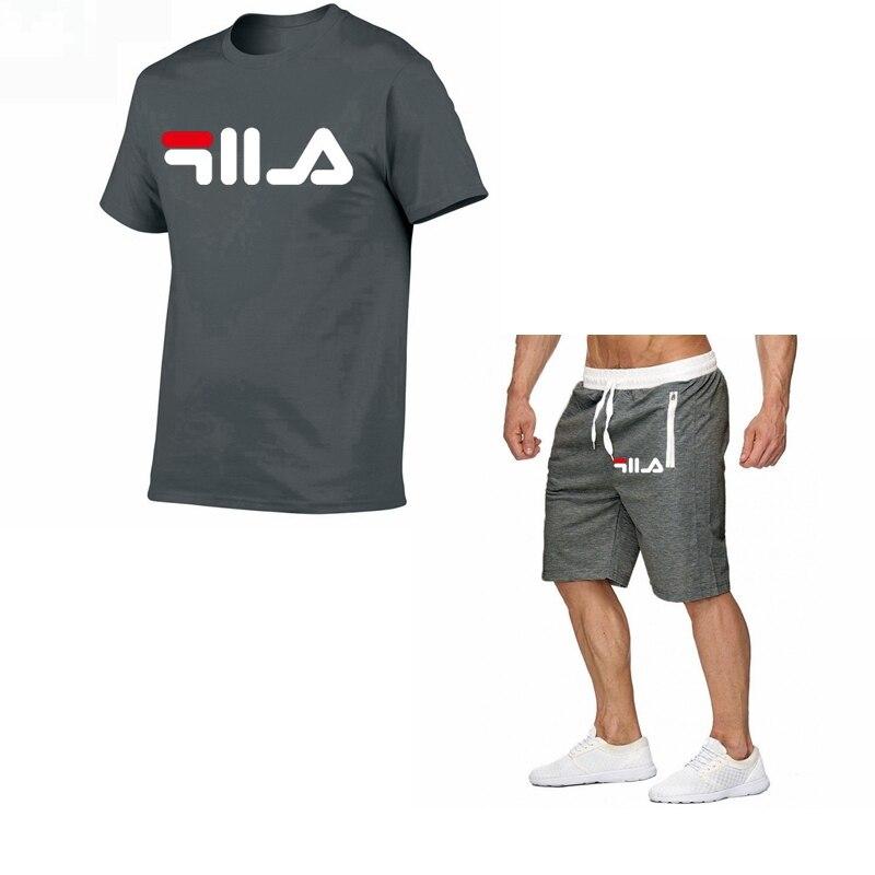 Summer Men/'s 2pcs Tracksuits Set Short Sleeve T Shirt Tops Suit Shorts Pants New