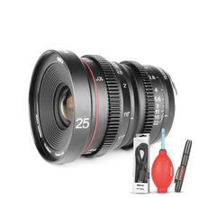 Meike MK 25mm T2.2 Manual Focus Aspherical Portrait Cine Lens for Sony E Mount Mirrorless Cameras A6000,A6300,A6500 NEX3/5/6/7