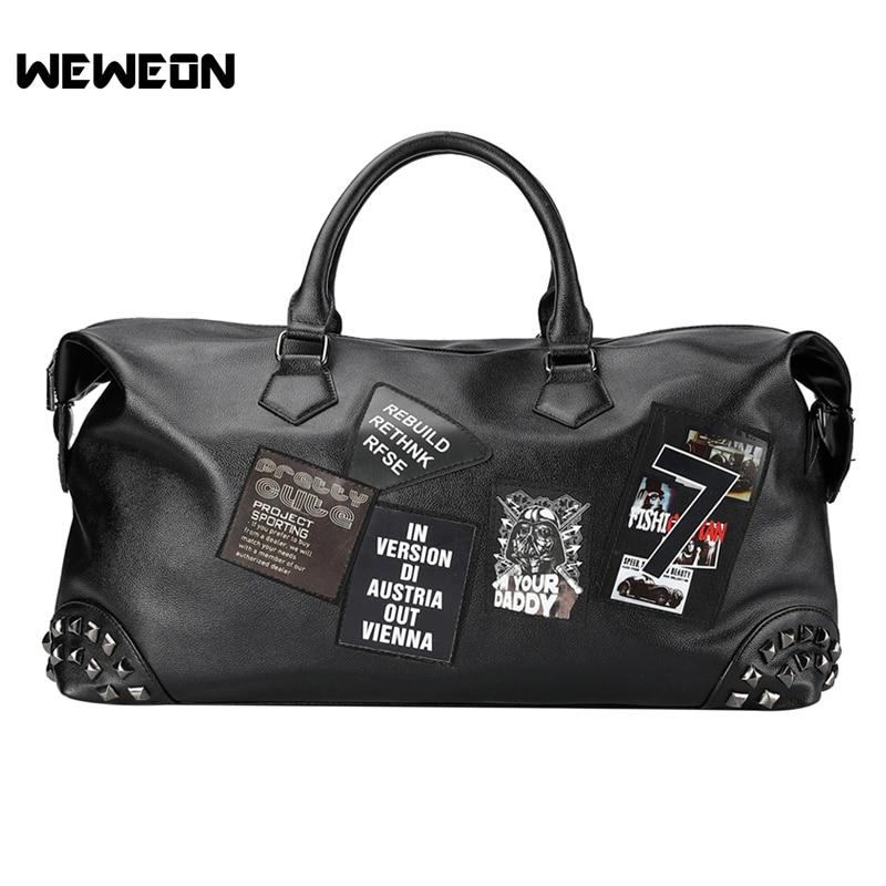 Gym Bag Stylish: New Printing Stylish PU Leather Sports Bag Graffiti Gym