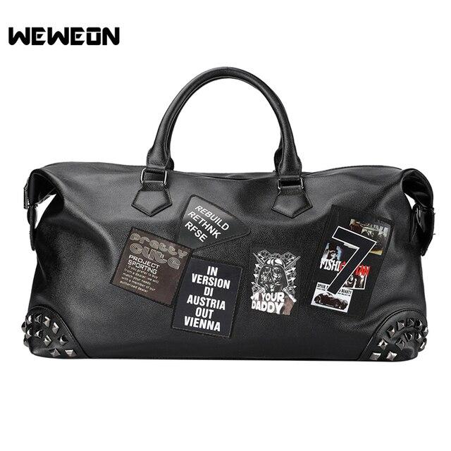 New Printing Stylish PU Leather Sports Bag Graffiti Gym Bag For Men Fitness  Tivet Travel Bag 1e96c621f4e48