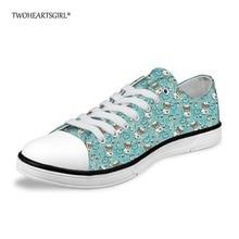 Twoheartsgirl Cartoon Nurse medve Alacsony vászon cipő nőknek aranyos nyomtatott női Vulkanizáló cipő alkalmi lakások cipők