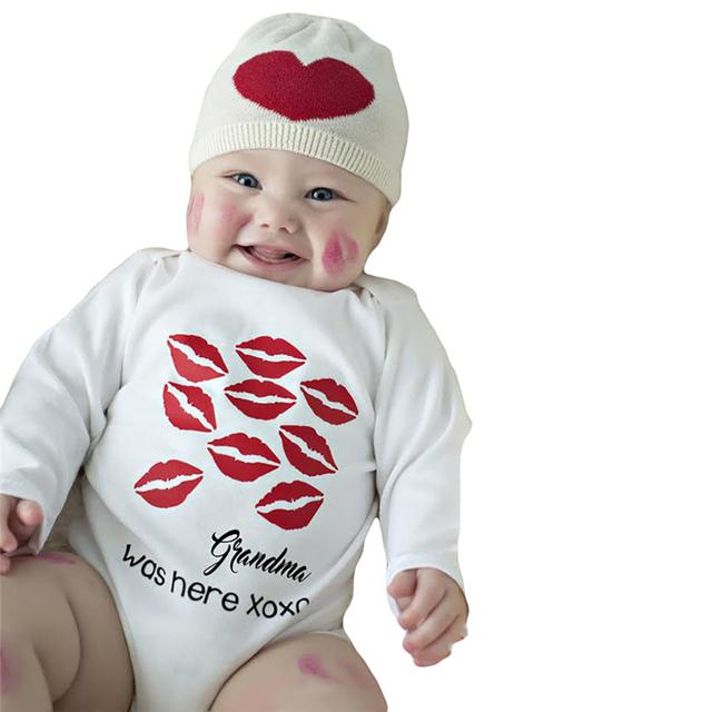 Kiss Lipstick Printed Baby Bodysuit