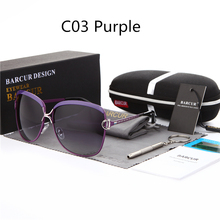 BARCUR Ladies Sunglasses Women Luxury Brand Female Retro Fashion Sunglasses