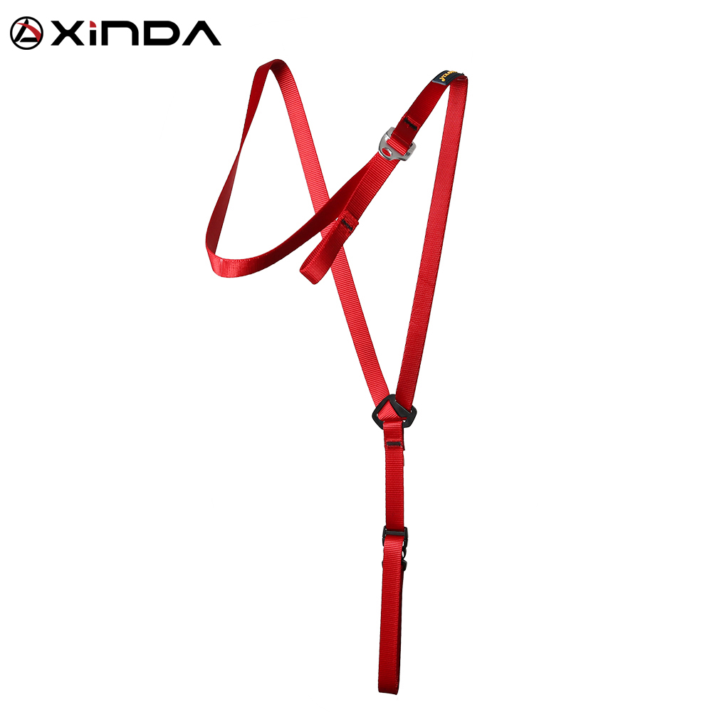 XINDA Camping Ascending Decive Shoulder Girdles Adjustable Chest Safety Belt Harnesses Rock Climb Safety ProtectionSurvival