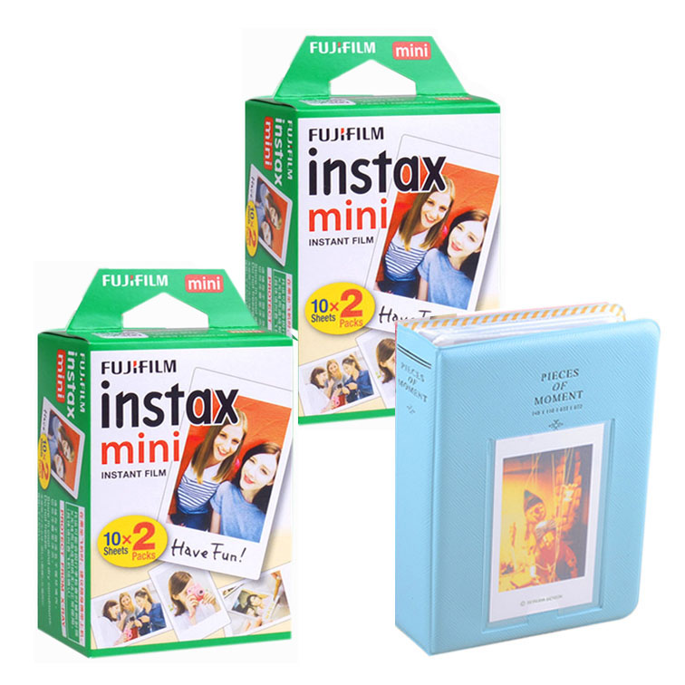 цена на 40 Sheets Fujifilm Instax Instant Mini Film White Edge for Mini 9 8 7s 25 50s SP1 With 64 Pockets Photo Album Camera Accessroies
