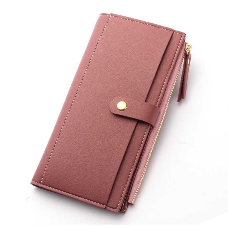 6a4f16a694e4 ... Для женщин бумажник портмоне из мягкой кожи высокого качества кошелек  Длинные держателей карт деньги сумка женский ...