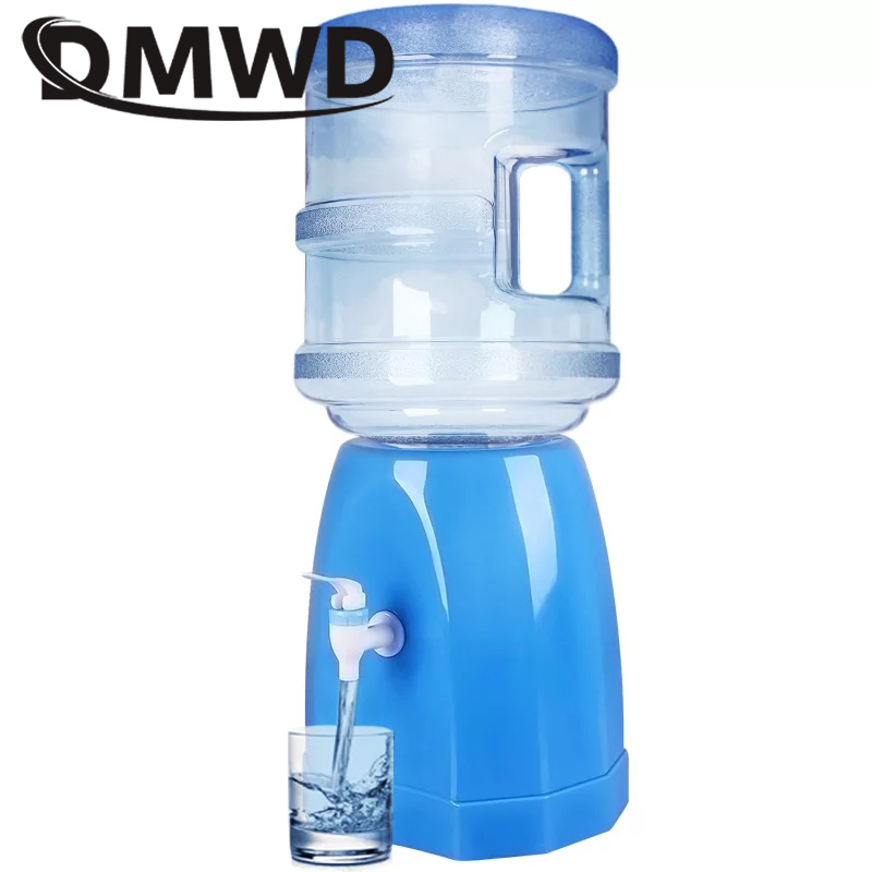 DMWD Mini Water Dispenser Desktop Drinking Fountains Base Buckets Watering Bottle Holder Absorber Barrel Pump Faucet Home OfficeDMWD Mini Water Dispenser Desktop Drinking Fountains Base Buckets Watering Bottle Holder Absorber Barrel Pump Faucet Home Office