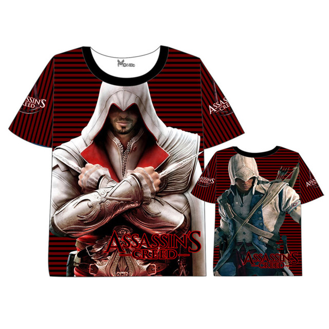 28d2813e5 Anime Assassin's Creed t shirt Men Women Short Sleeve Summer dress T shirt