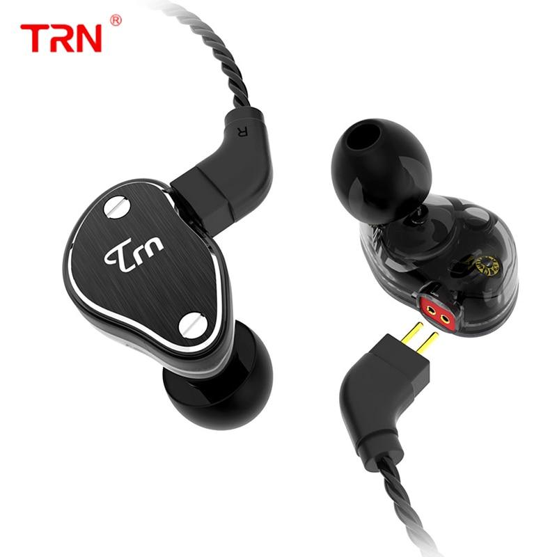 TRN V60 1BA With 2DD Hybrid Metal In Ear Earphone HIFI Monito Running Sport Earplug Headset For phone 2Pin Detachable