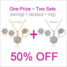 Купить с кэшбэком 50% OFF African Jewelry Set Women Necklace Pendant Earrings Ring Bijoux Mariage Sieraden Jewlery Sets Taki Seti Jewellery S7878