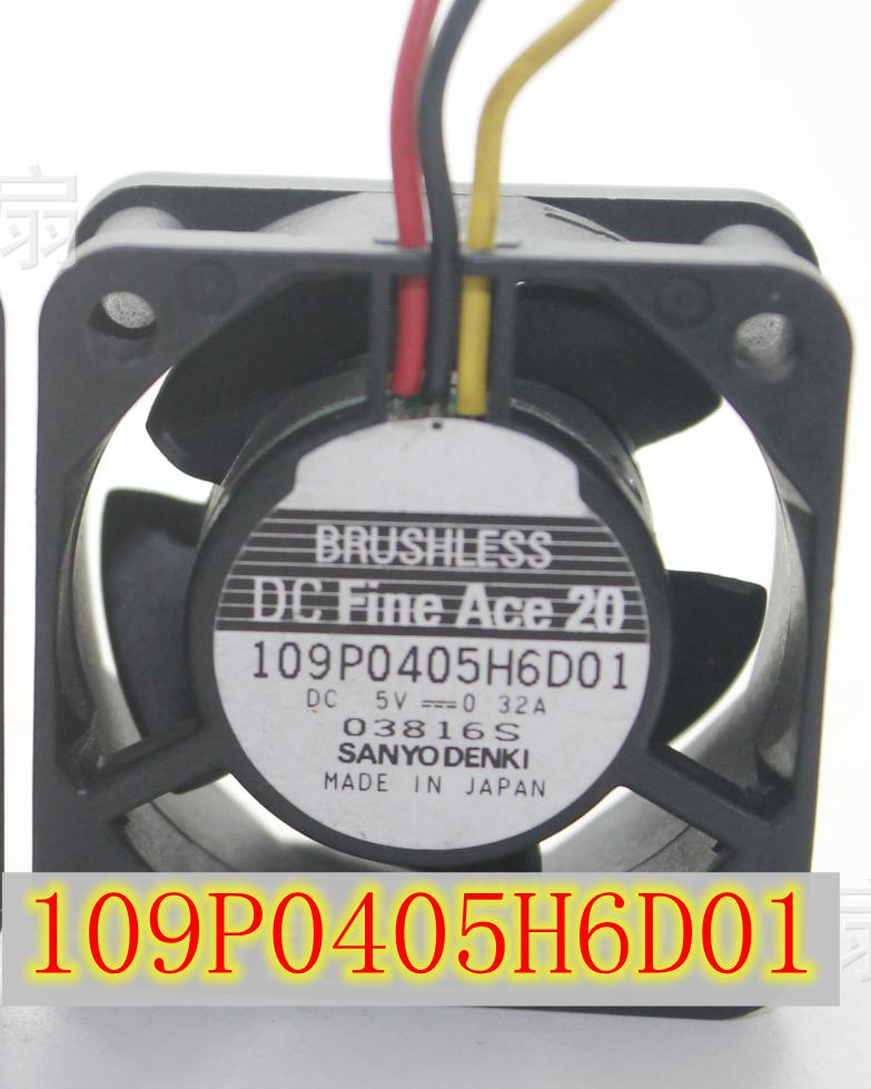 SANYO 109P0405H6D01 DC 5V 0.32A, 40x40x20mm Server Square fan sanyo denki 109p0424h6d13 double fan server square fan dc 24v 0 07a 40x40x20mm 3 wire