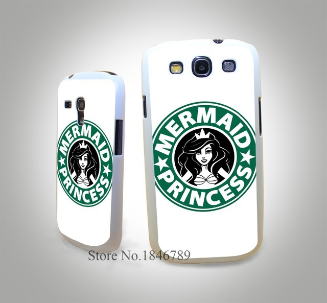 mermaid princess coffee White Hard Case Cover for Samsung Galaxy S3 S3 Mini S4 s4 Mini S5 S5 Mini S6 s6 Edge
