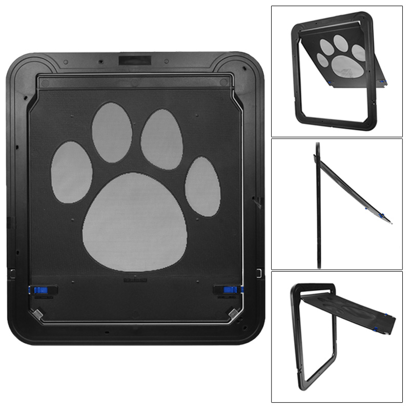 Utility 37x42cm Pet Screen Door Dog Footprint Pattern Pet Cat Door Window Screen Doggie Flap Safe Pet Supplies