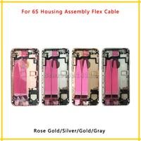 Nouveau Retour Cadre Moyen Châssis Assemblée Logement Complet Couvercle de La Batterie avec Flex Câble Pour iphone 6 S 4.7 ''6 S Plus 5.5'' Pièces De Rechange
