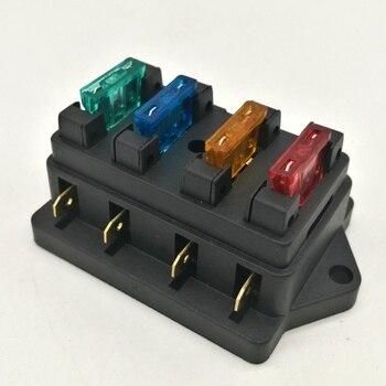 Soporte de caja de fusibles para coche y camión, 4-5 vías, 12V/24V, circuito estándar ATO + fusible gratis 1