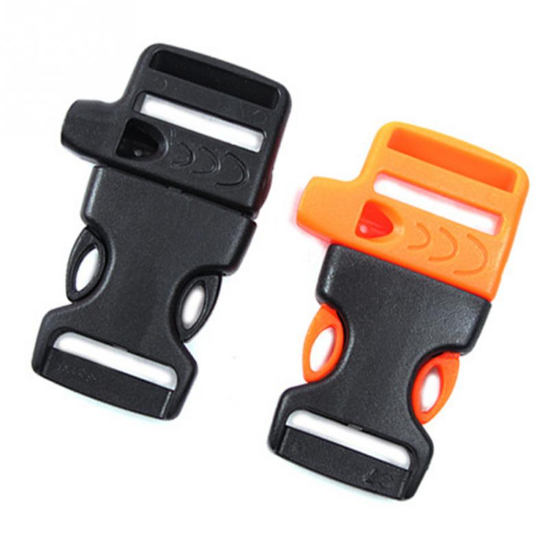 5 Pcs/pack Survival Whistle Buckle Plastic Curved Side Release Buckles For Paracord Bracelet/ Backpack