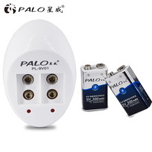 Hot sale Super Quick Power 9V Battery Charger US plug for 9v 6f22 battery and with 2 pcs 9v batteries