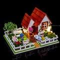 Diy Кукольный Дом Вилла Модель Включает В Себя Крышку Пыли и Мебель Миниатюрный 3D Головоломки Деревянные Кукольный Домик Творческий День Рождения Подарки Игрушки