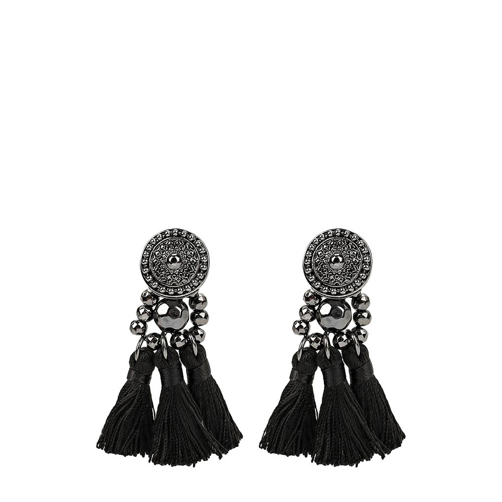 Stud Earrings MODIS M181A00812 women earring jewelry  decoration for female TmallFS retro style turquoise cut out geometric tassel drop earrings for women