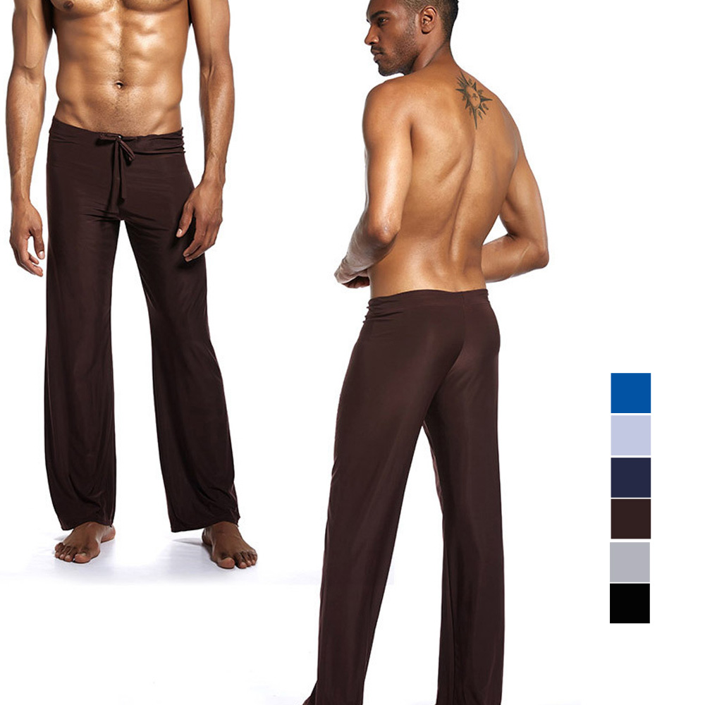 Brand Pants Men's Pyjama Trousers Dance Harem Sweatpants Sleep Bloomers Casual Trousers Lounge Pants Soft Silky Pants