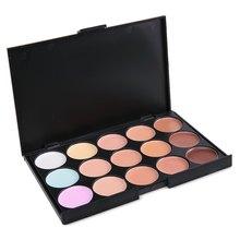15 Colores Profesional Del Salón Cara Contorno De Maquillaje de Polvo Cosmético Facial Corrector Maquillaje Natural de La Cubierta Completa para Las Mujeres 1439319