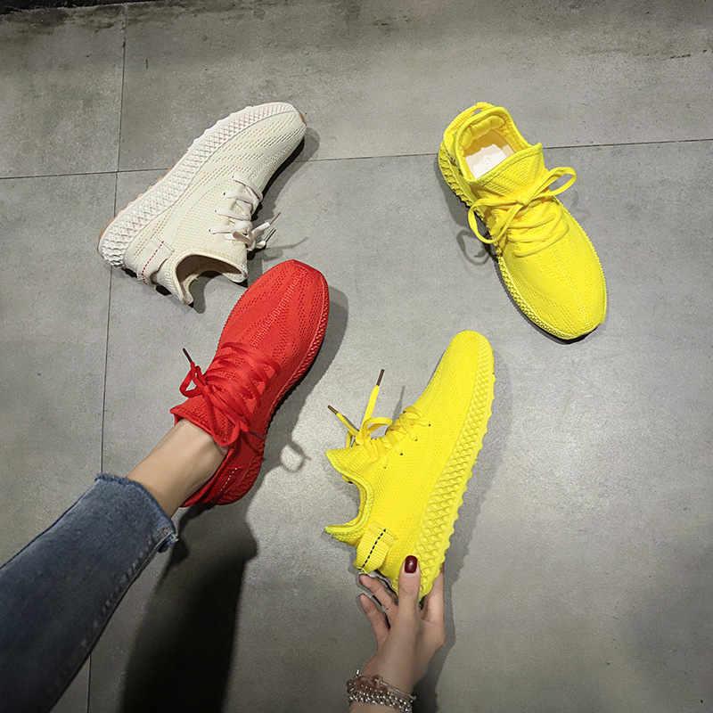 Women Sneakers Platform Casual-Shoes Thick-Bottom White Breathable Fashion Summer New title=
