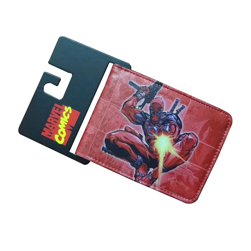 Comics DC Marvel Short Wallet Men Anime Leather Purse Cartoon Deadpool Series 4.5 inch Money Bags Waterproof  Wallets cartera new 70 years marvel comics wallets cartoon anime purse card money bags carteira masculina men women casual leather short wallet