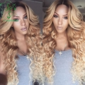 Blonde wig dark roots 1b/613 hair color front lace wig human hair/glueless full lace wigs brazilian virgin hair with baby hair