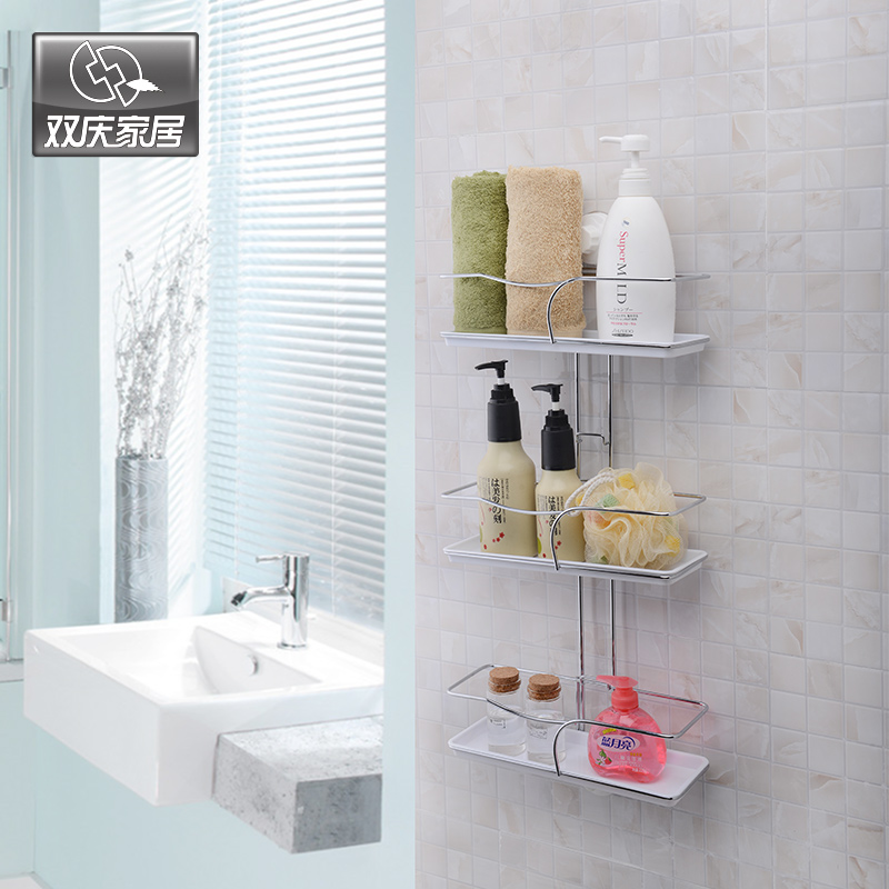 Cupsful Triple Tier Shelves Bathroom Sucker Suction Cup Shelf Bathroom  Accessories In Bathroom Shelves From Home Improvement On Aliexpress.com |  Alibaba ...