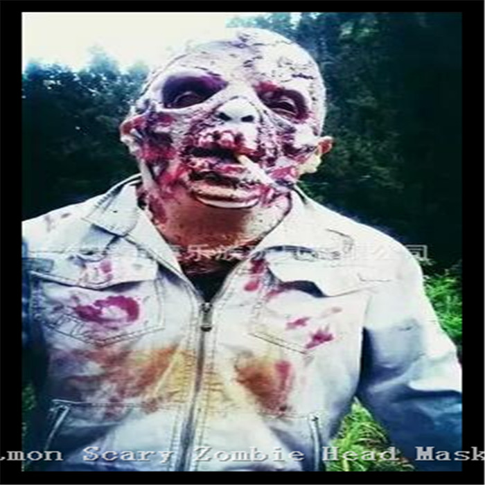 Halloween Cosplay Populaire Film Resident Evil Masque Tyran Masque Halloween Horreur Latex Masque Homme walking Dead Zombie Cannibale Masque