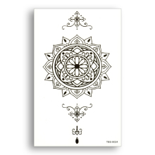 Mandala Temporary Glitter Fake Tattoo Water Transfer Waterproof Sticker Black Tribe Totem Sexy Women Men Beauty Body Art Compass
