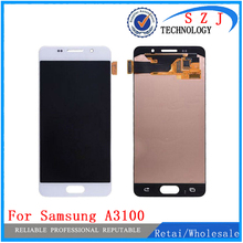 New case For Samsung Galaxy A3 A3100F A3100 A310F 2016 Touch Screen + LCD Digitizer Assembly -White/Black Free Shipping