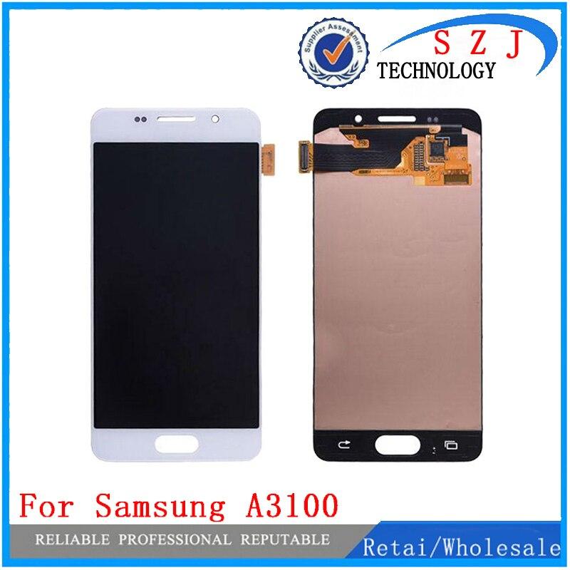 Nouveau pour Samsung Galaxy A3 A3100F A3100 A310F 2016 écran tactile + LCD numériseur assemblée-blanc/noir livraison gratuite