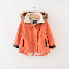 New Boys and Girls Winter Coat Children Unisex Clothing Kids  Fur Collar Outwear Lambs wool Parka For Baby Girls and Boys